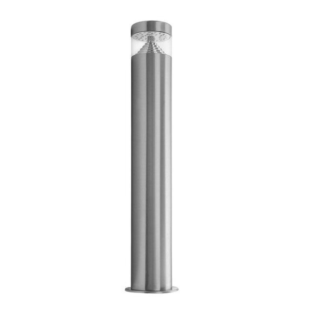 illucio LED Garden/Outdoor Lampost Bollard Lighting Fixture in Stainless Steel